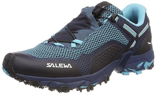 Salewa WS Ultra Train 2, Zapatillas de Senderismo para Mujer, Azul (Capri/Poseidon 3395), 39 EU Salewa