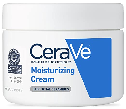 CeraVe Moisturizing Cream 12 oz Daily Face and Body Moisturizer for Dry Skin