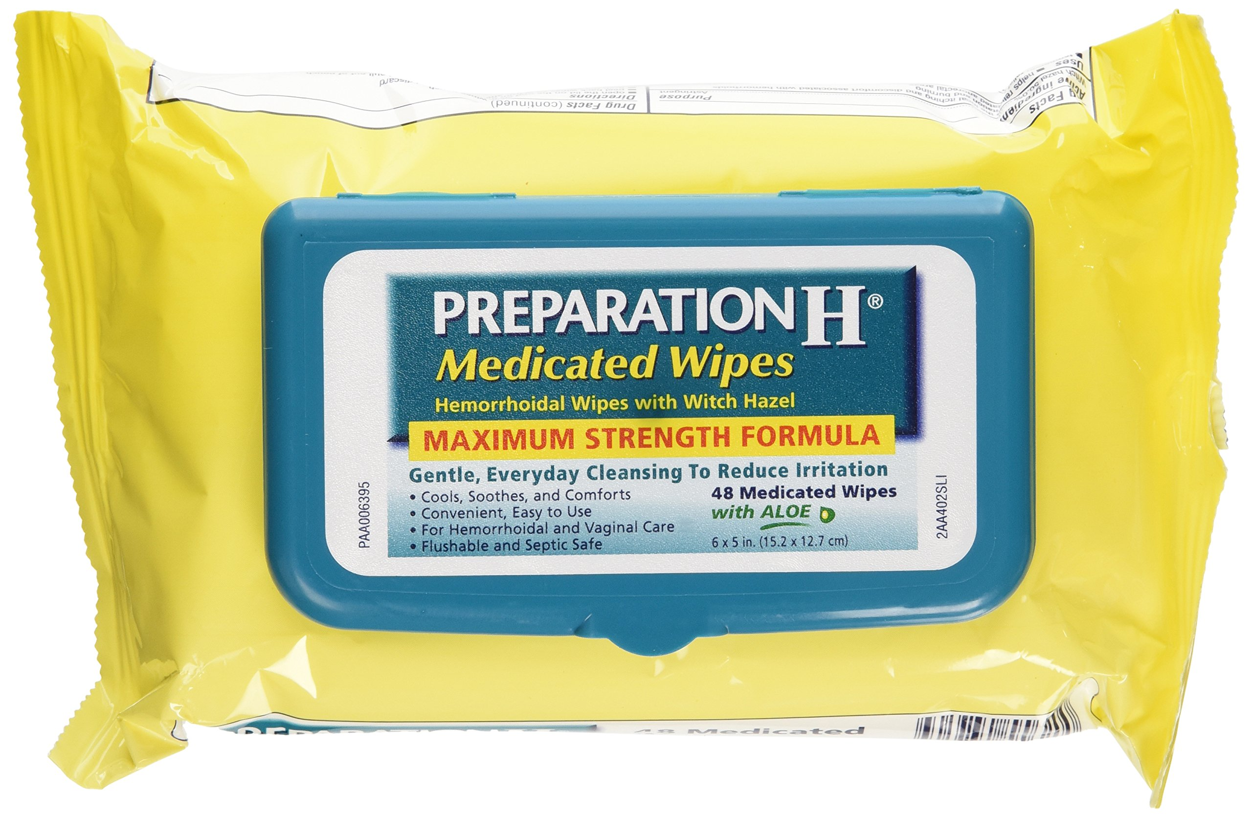 Preparation H Medicated Wipes 48 Ea (Pack Of 3) by Preparation H