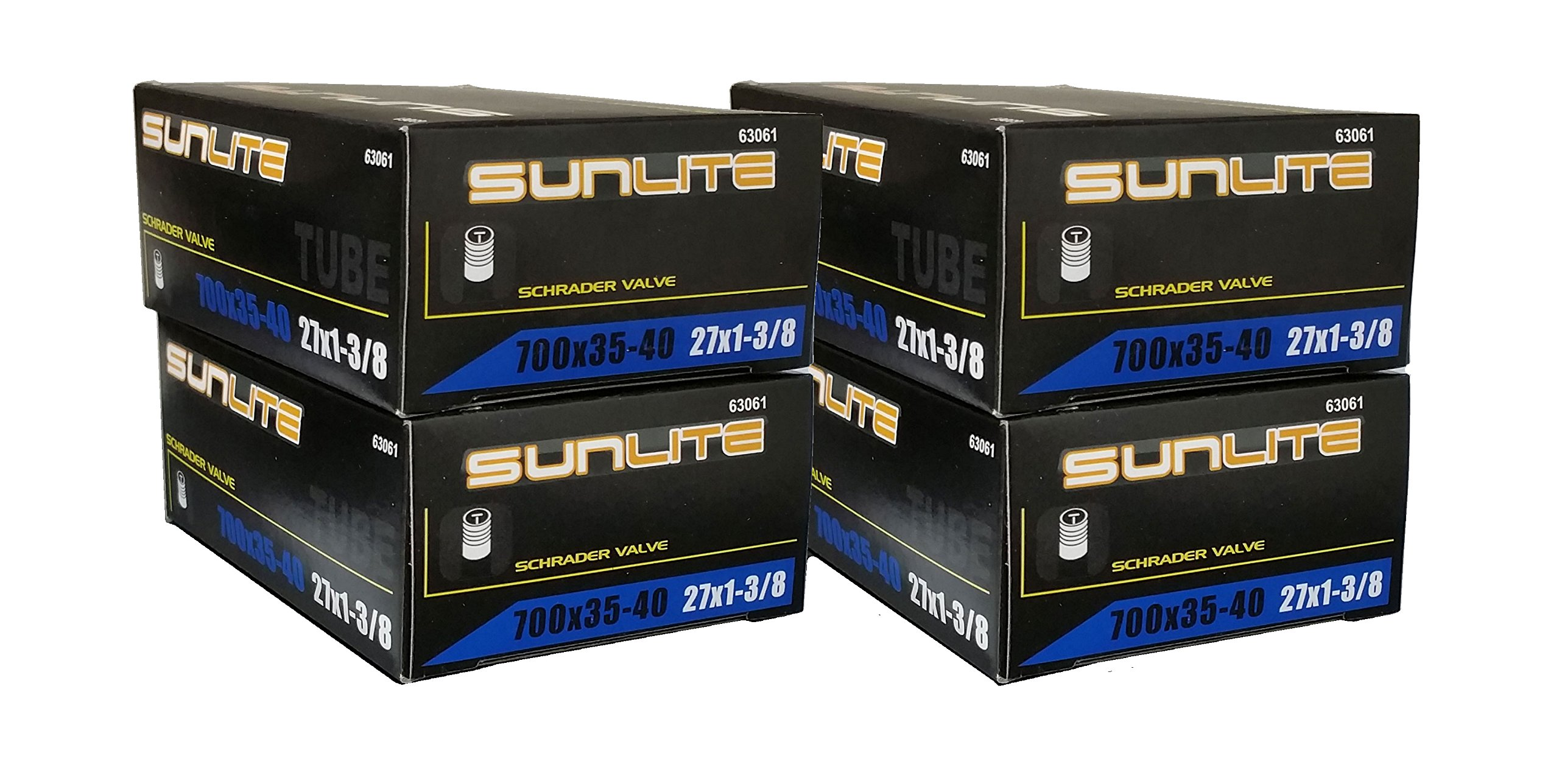 GET ONE FREE 4 PACK DEAL - Tube, 700 x 35-40 (27 x 1-3/8) SCHRADER Valve 32mm, Sunlite by Street Fit 360