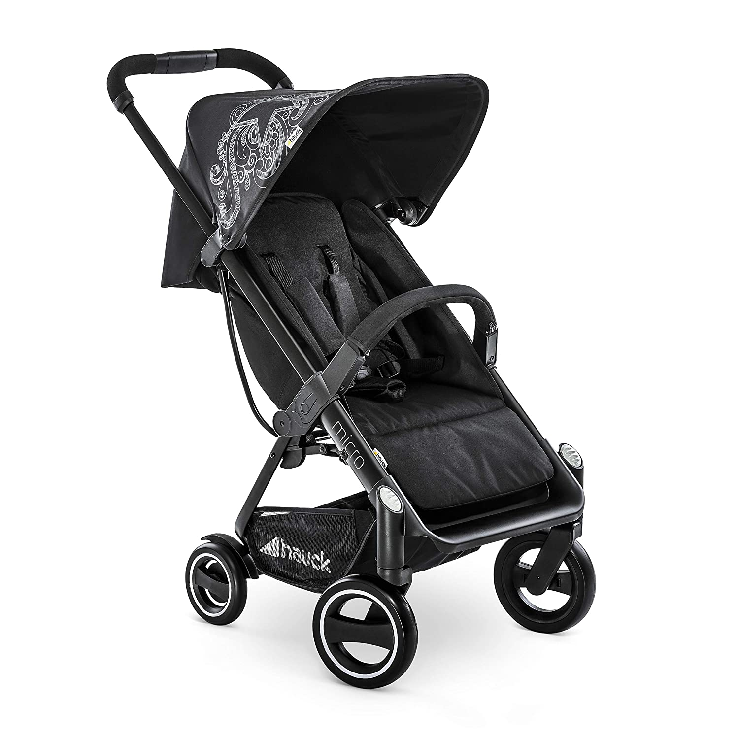 Hauck Micro, Compact Stroller Foldable with one Hand, Extra Light and Extra Small, from 6 Month up to 55 lbs