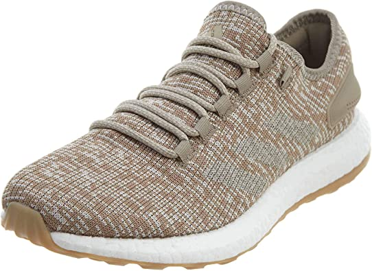 adidas Pureboost Men's Running Shoes Trace Khaki/Brown-White s81992