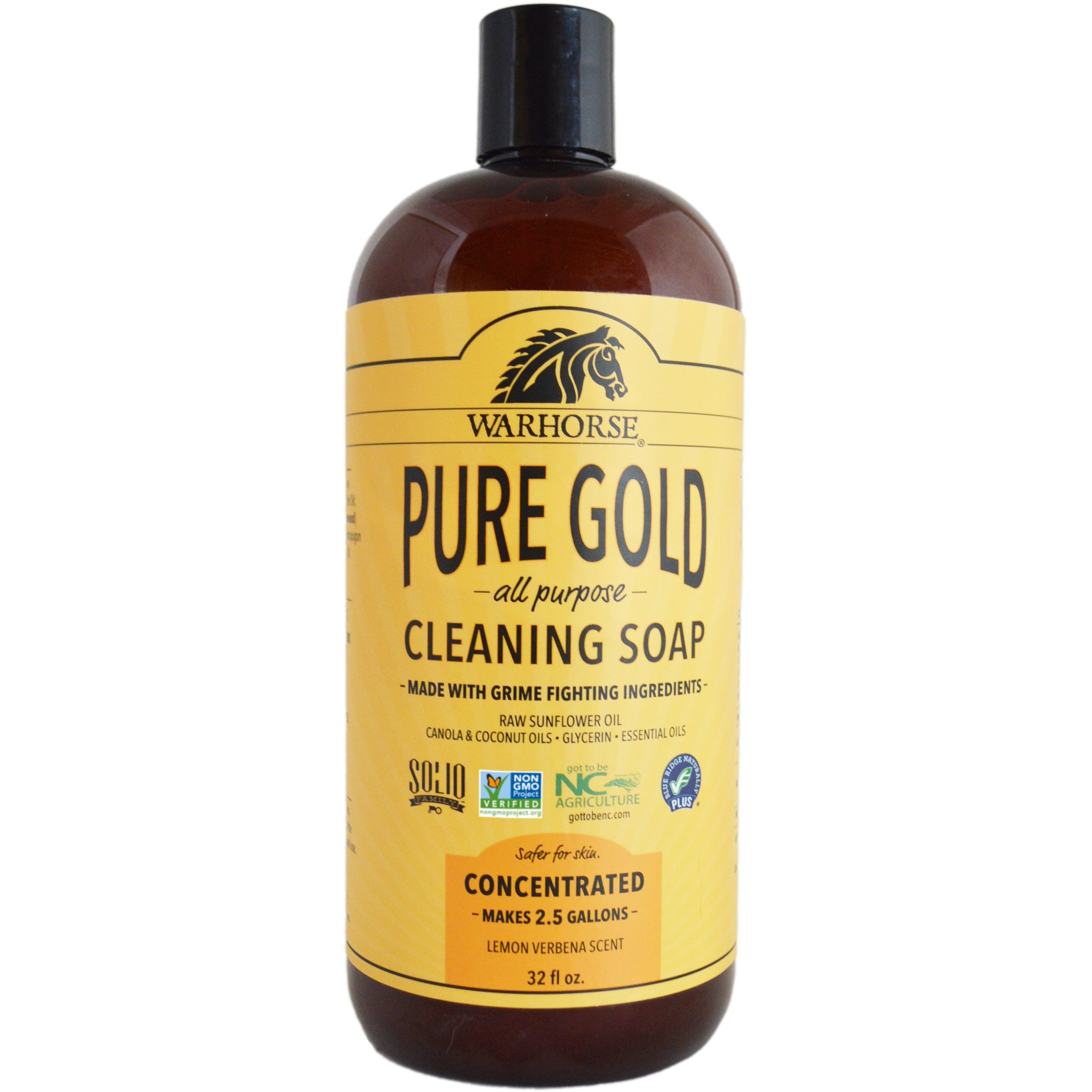 Warhorse Pure Gold All-Purpose Cleaner - Natural Ingredients for Deep Cleaning and Everyday Use - Lemon Verbena, 32 Ounce