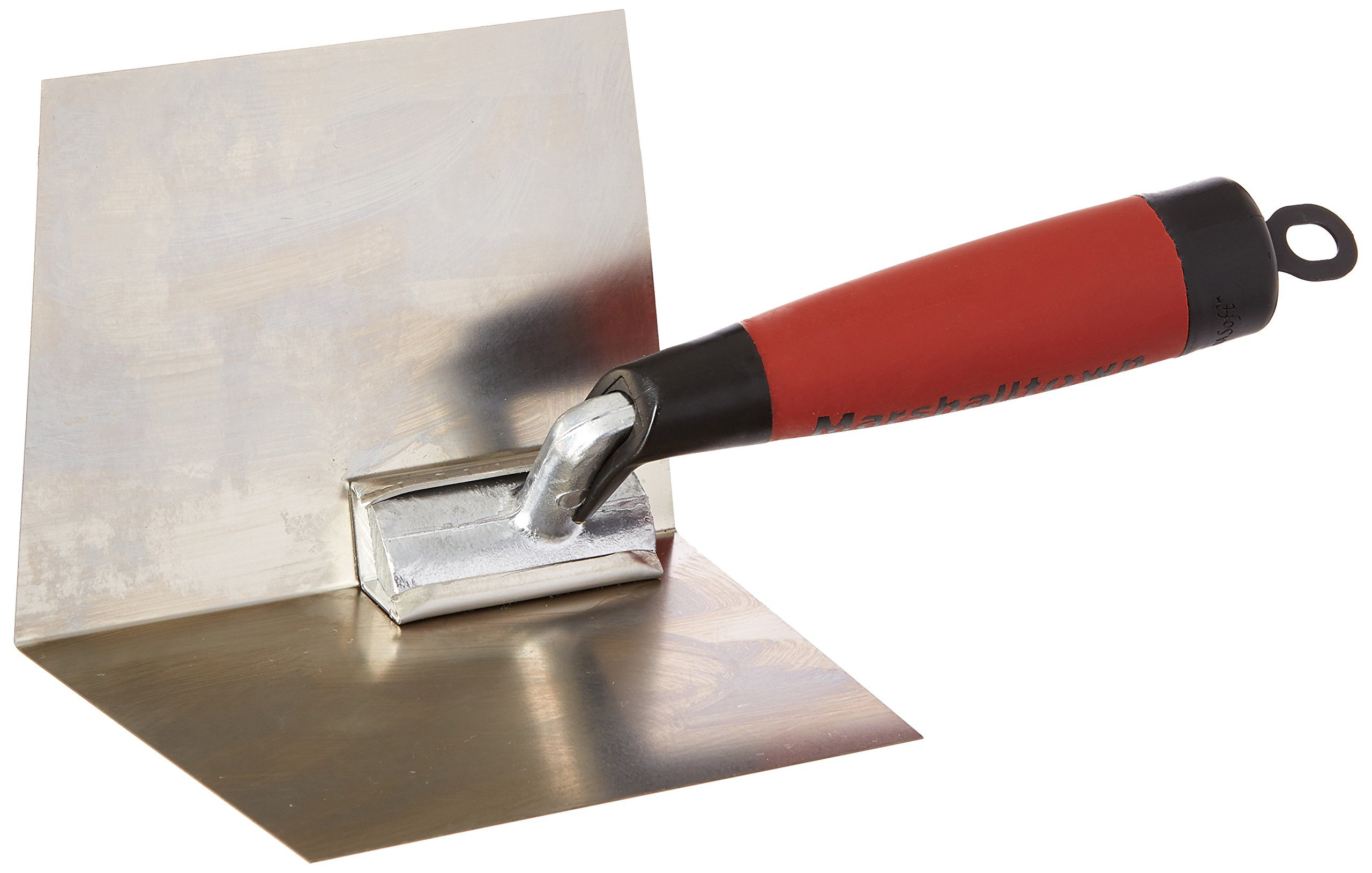 MARSHALLTOWN The Premier Line 23D 4-Inch by 5-Inch Inside Drywall Corner Trowel with DuraSoft Handle