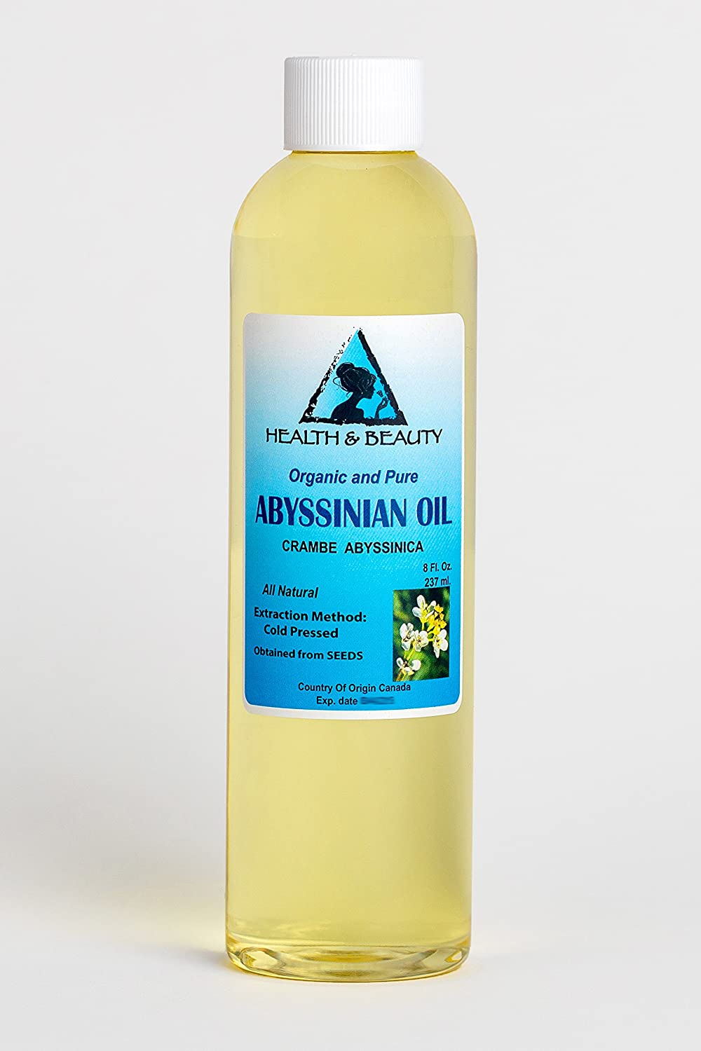 Abyssinian / Crambe Seed Oil Organic Cold Pressed Natural 100% Pure 8 oz, 237 ml H&B OILS CENTER Co.