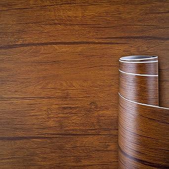 Awnic Plakfolie Houtlook Bruin Meubelfolie Zelfklevend Natuurlijke Houtnerf Pvc Folie Waterdicht Voor Meubels Decoratie Tafelblad Kasten 60x500cm Amazon Nl Wonen Keuken