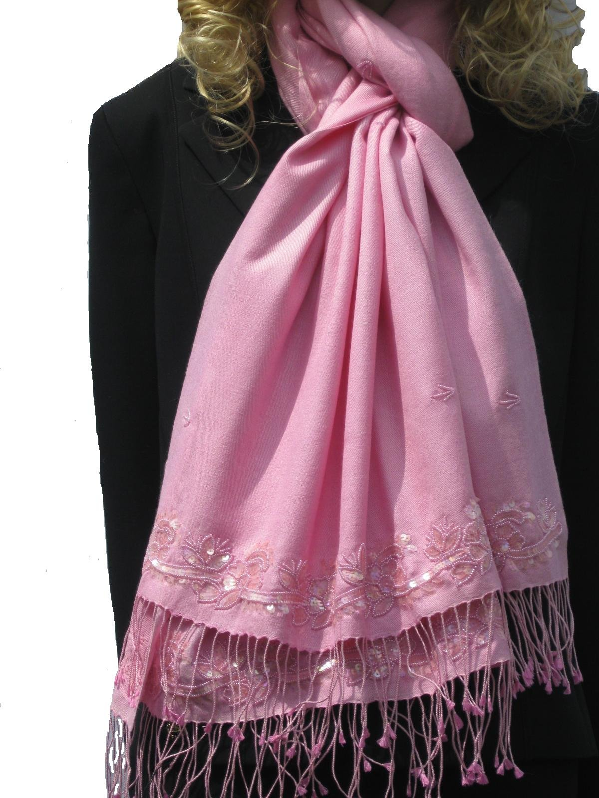 CASHMERE PASHMINA FANCY SHAWLS-at $79.00 (annual clearance) we still offer the best quality in luxuriously warm shawls, 78 inches long and 28 inches wide, approximately 70% Cashmere Pashmina with 30% Silk, in many vibrant colors, use as shawl, wrap & scar