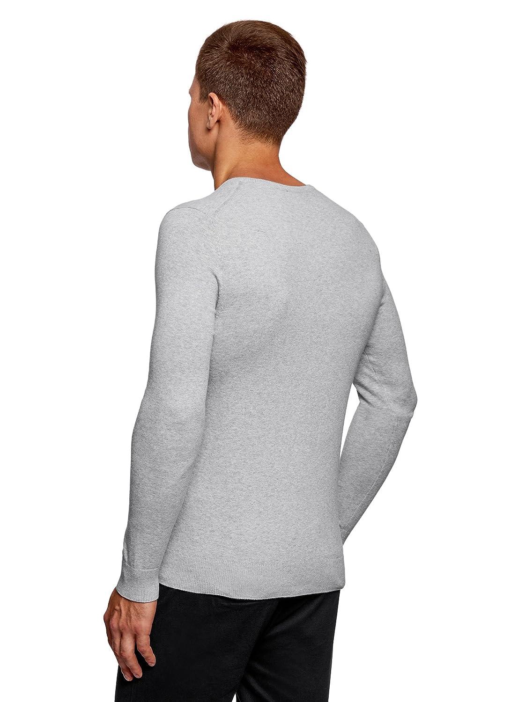 oodji Ultra Hombre Suéter Básico con Cuello Pico: Amazon.es: Ropa y accesorios