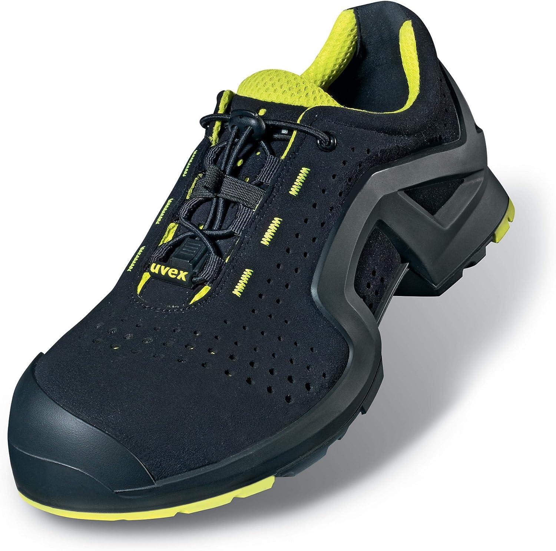 Uvex 1 X-tended Support Zapato Profesional de Seguridad S1 P SRC | Zapatilla Deportiva de Trabajo | Punta Antiaplastamiento de Composite | Negro: Amazon.es: Zapatos y complementos