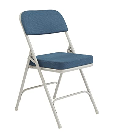 National Public Seating 3200 Series Steel Frame Upholstered Premium Fabric  Seat And Back Folding Chair With