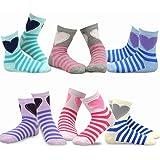 Ethnic Stripe TeeHee Kids Girls  Fashion Crew Socks 6 Pair Pack