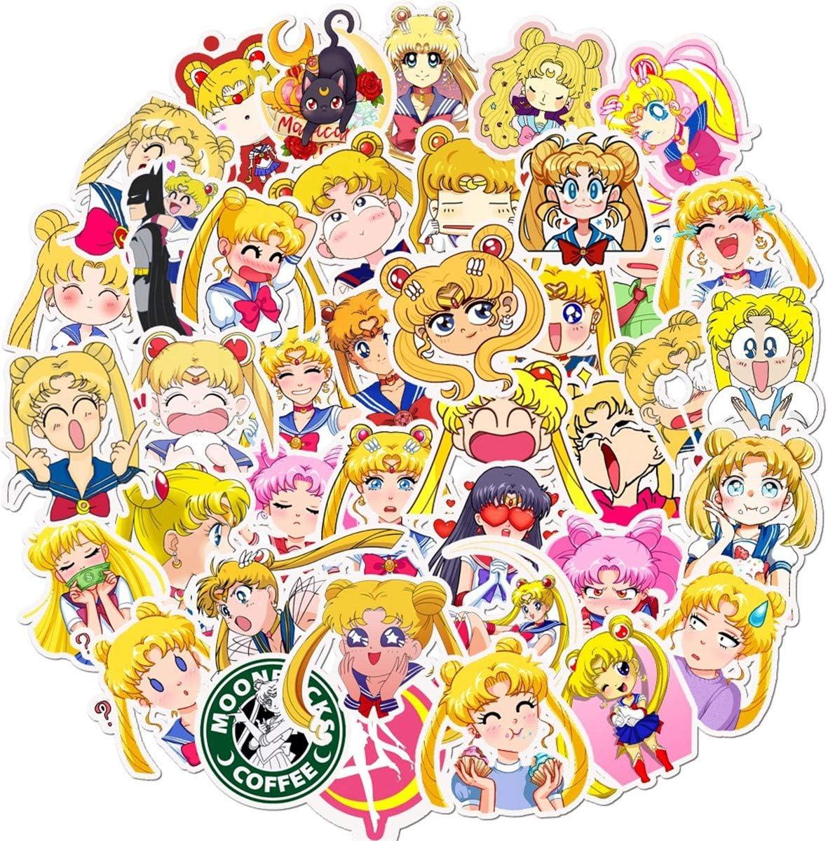 50 pcs Sailor Moon Waterproof Suitcase skateboard Car PVC Sticker Well NEW Hot!