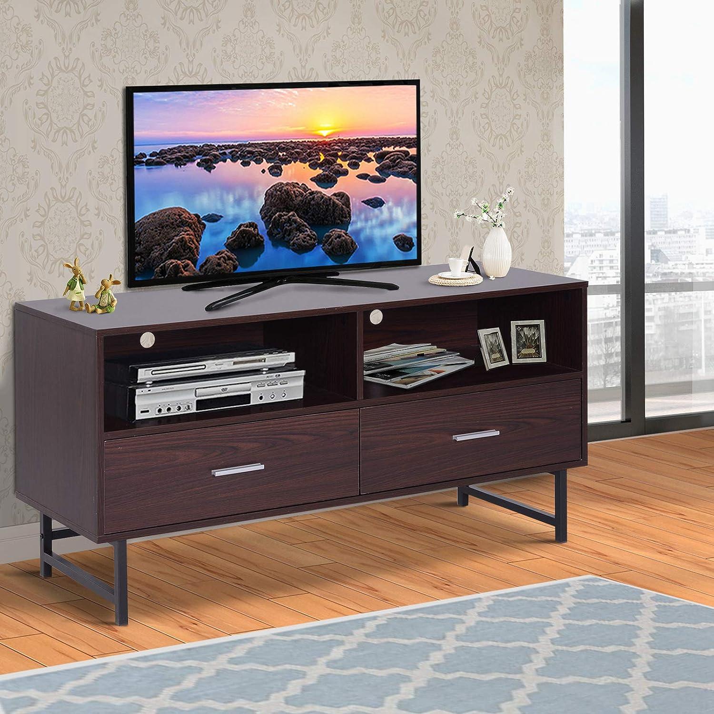 Porta Tv In Stile Classico.Soggiorno Homcom Mobile Porta Tv Stile Classico 2 Cassetti 2