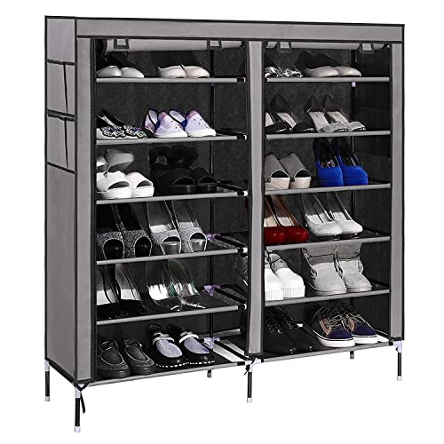 PAffy Steel PPCP Shoe Rack, Grey