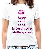 """T-shirt Addio al nubilato """"Keep calm sono la testimone della sposa"""" - Maglia donna"""