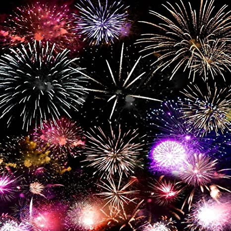 gladsbuy brilliant fireworks 6 x 6 computer printed photography backdrop new year celebration theme