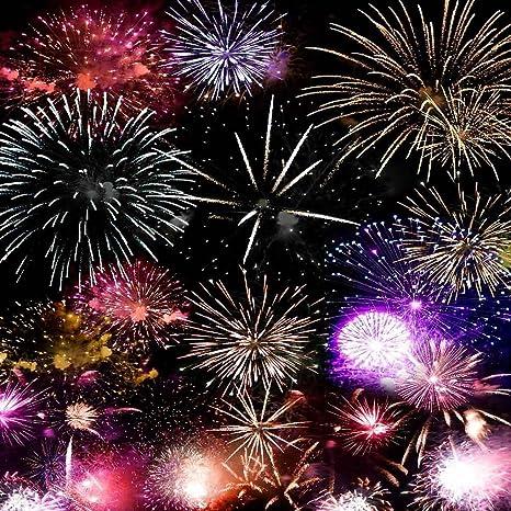 gladsbuy brilliant fireworks 6 x 6 computer printed photography backdrop new year celebration theme