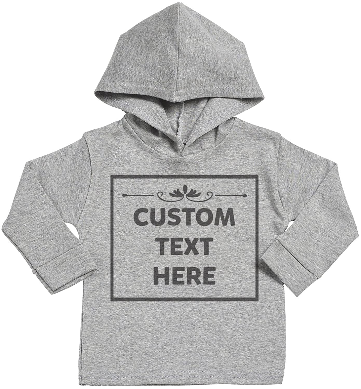 Spoilt Rotten SR - Personalised Custom Text Here Baby Cotton Baby Hoodie - Personalised Baby Gift - Personalised Baby Clothing srP60_H