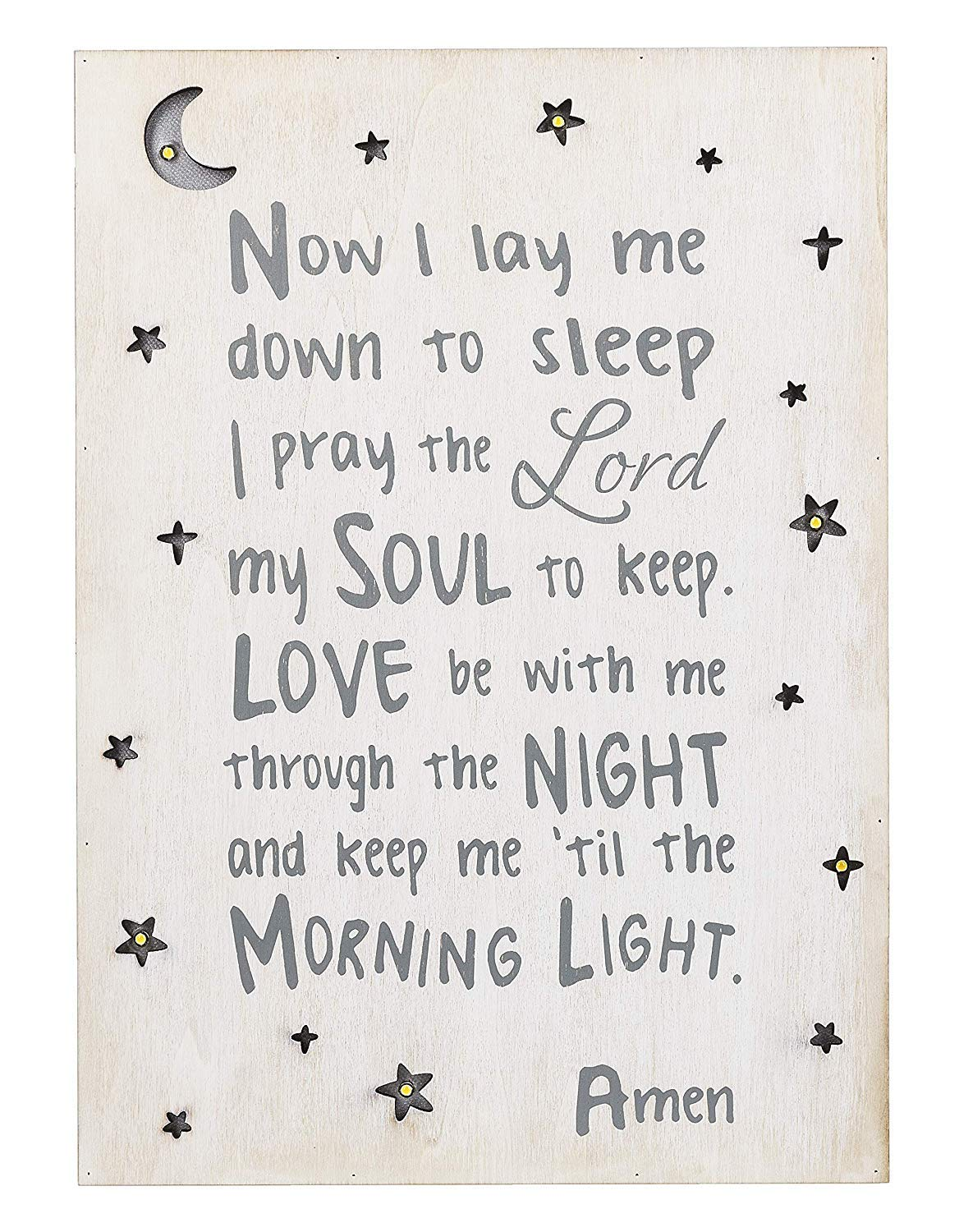 Ganz Light up Wall Box Plaque Now I Lay Me Down to Sleep by Ganz