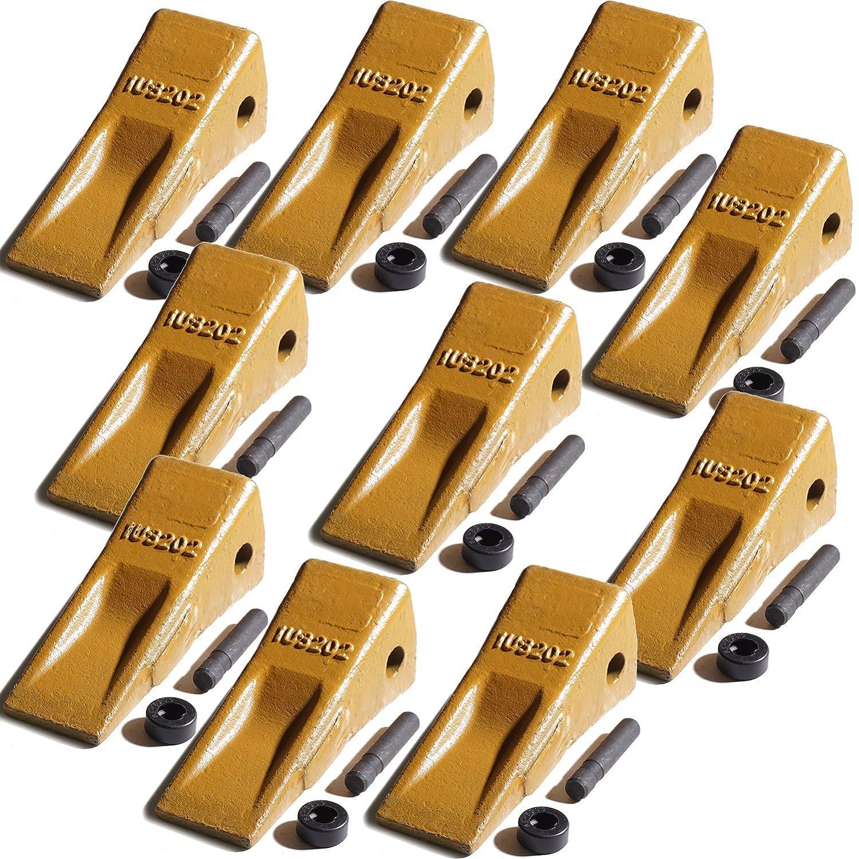 Titan Attachments Set of 10-1U3202 Bucket Teeth Side Pin 8E6208 Retainer CAT J200 Digger Long