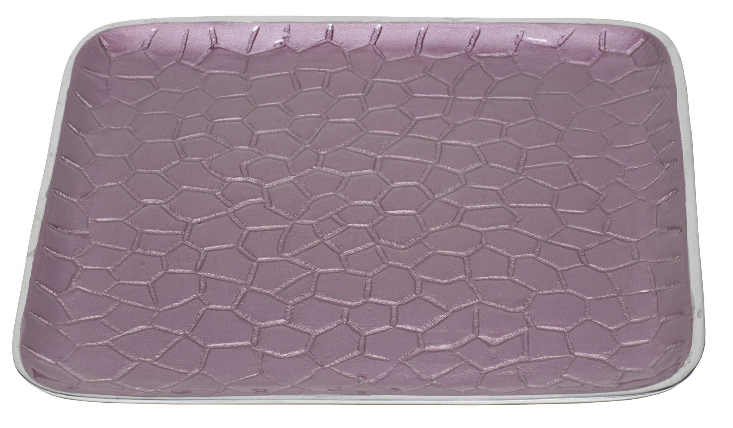 Artisan d'Orient Classic 8'' Square Tray, Color - Purple, Set of 16