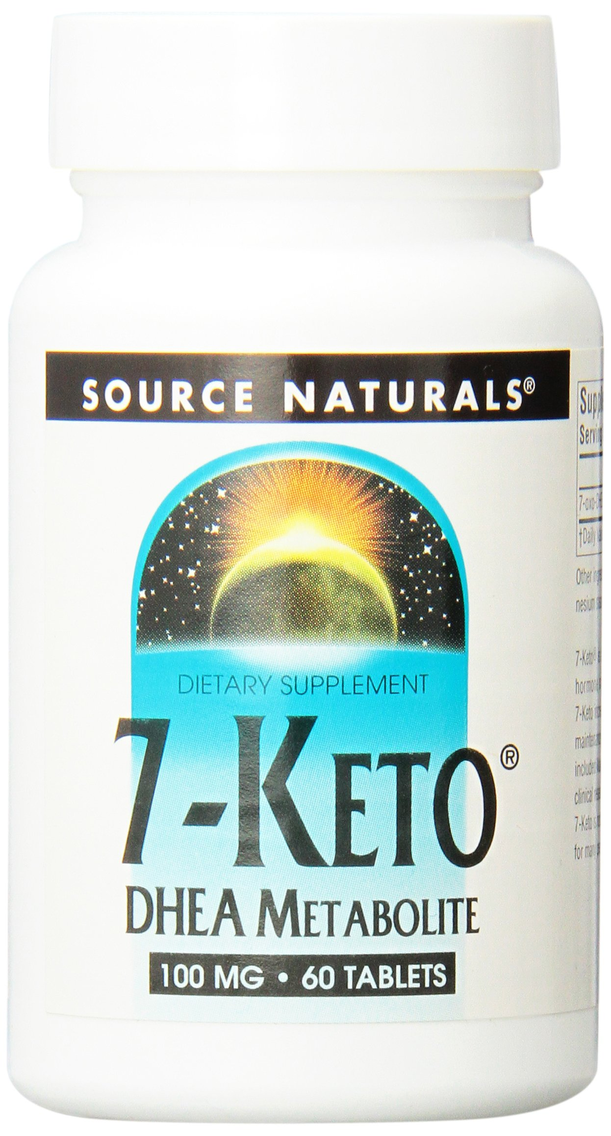 Source Naturals 7-Keto DHEA Metabolite 100mg, Effective Anti-Aging Compound, 60 Tablets