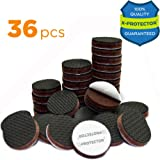 "FURNITURE GRIPPERS X-PROTECTOR – PREMIUM 36 pcs 1"" Furniture Pad! Best Non Slip Furniture Pads Rubber Feet - Furniture Floor Protectors for Keep in Place Furniture & Furniture Stoppers"