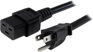 StarTech.com 10 ft Heavy Duty 14 AWG Computer Power Cord - NEMA 5-15P to C19 - 14 AWG Power Cable - NEMA 5-15P to IEC 320 C19 Power Cord (PXT515191410)