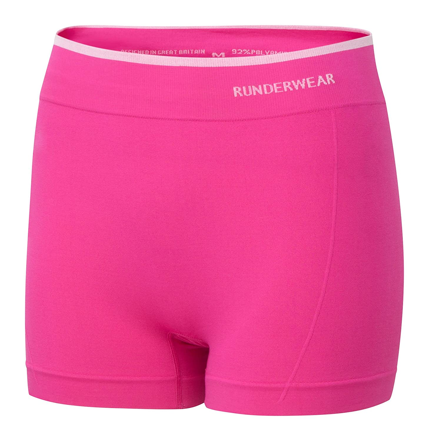 Runderwear Women's Hot Pants **2 Pair Pack**   Chafe-Free Performance Underwear with Seamless Technology RB0090-X2