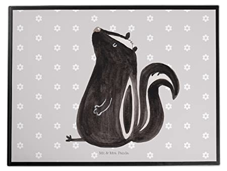 Variations Desk Mat Skunk Sitting OT Grau Pastell