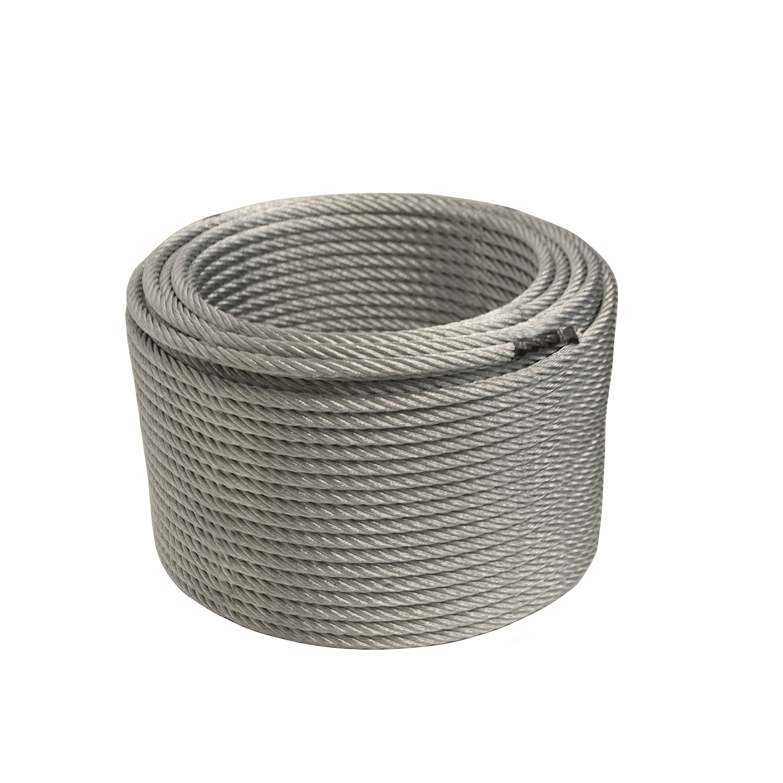 ALEKO WR3/8G7X19F250 3/8 Inch Diameter 7 x 19 Strand Galvanized Aircraft Steel Cable Wire Rope 250 Feet