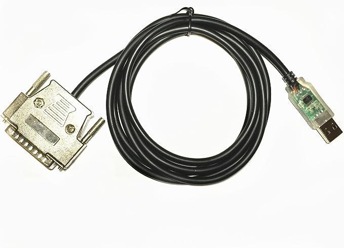 ezsync Chip FTDI USB a RS232 serial Cable adaptador Cable de programación, CNC controles, 25 pin DB25 macho conector, 1,5 m, FTDI uc-232r us-232r Compatible, ezsync014: Amazon.es: Electrónica