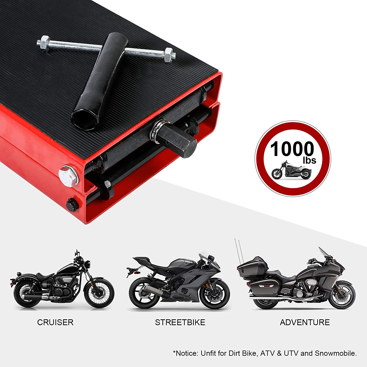 Cruiser Adventure Touring Motorcycle OrionMotorTech Dilated Scissor Lift Jack for Street Bike