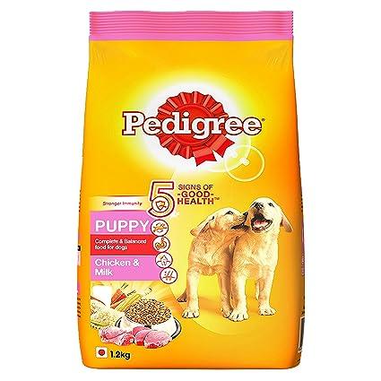 pedigree dry dog food chicken milk for puppy 1 2 kg