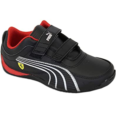 run shoes 50% off preview of Boys PUMA FERRARI Trainers Drift Cat Kids Shoes Leather Velcro Toddlers  Casual 906