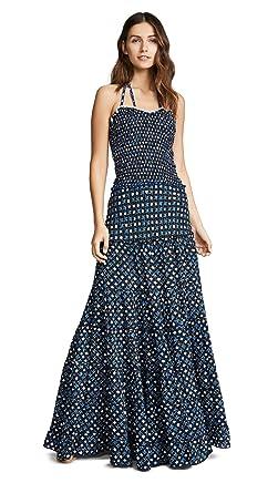 29860a4c849f Poupette St Barth Women s Foe Panelled Long Bandeau Dress at Amazon ...