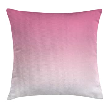 Ambesonne Ombre Throw Pillow Cushion Cover, Dreamy Pale Pink Waterfall Cotton Candy Inspired Modern Digital Print Girls Artwork, Decorative Square ...