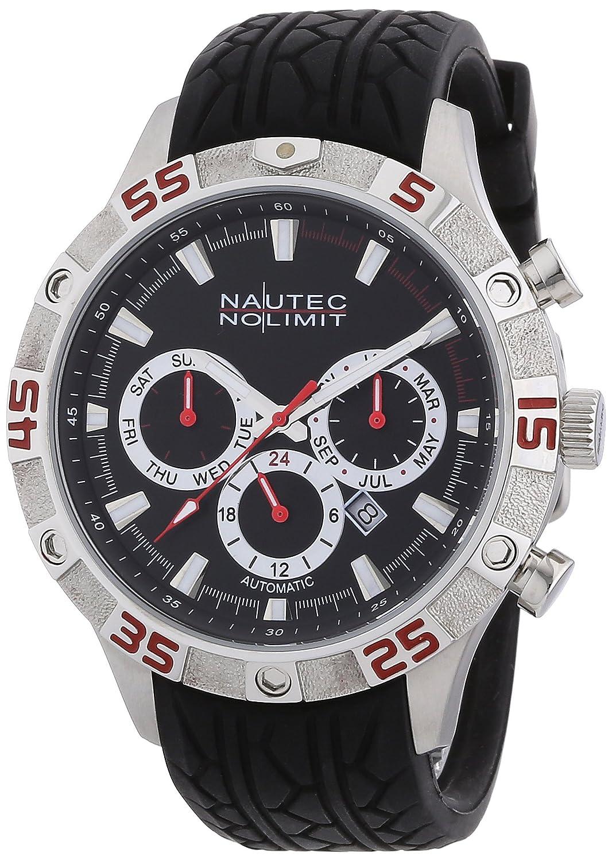 Nautec No Limit - Reloj analógico para Caballero de Caucho Negro