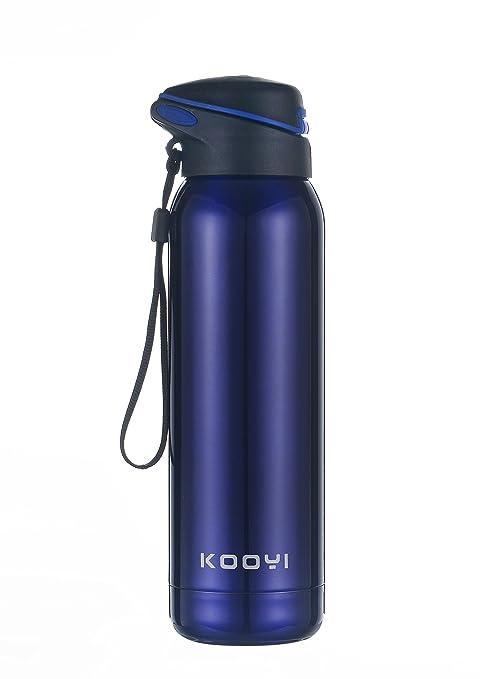 56 opinioni per Kooyi Sports Bottiglia di acqua in acciaio inox 500 ml, Tazza da viaggio Mug da