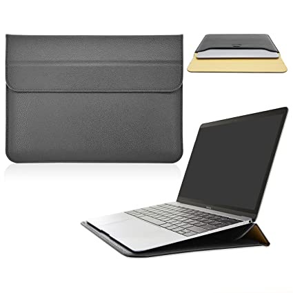 online retailer 405f2 78283 ACdream MacBook 12 Case, Wallet Sleeve Cover Case with Stand for Apple The  New MacBook 12'' inch Retina Display Laptop Computer 2015 Release, ...