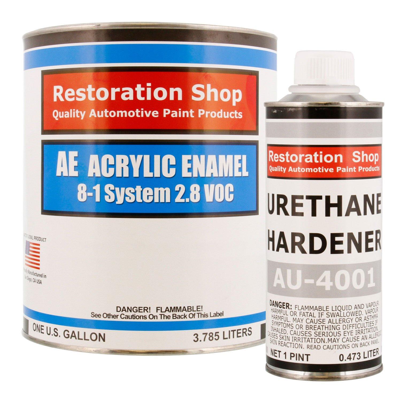 Restoration Shop - Complete Gallon Kit - Jet Black (Gloss) Acrylic Enamel Single Stage Car Auto Paint by Restoration Shop