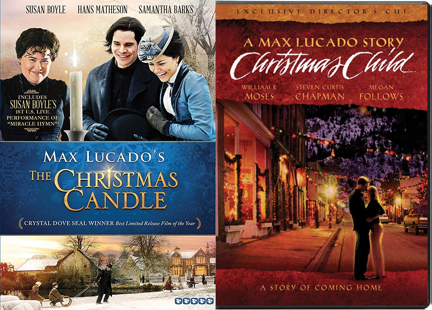 Story of Coming Home for Christmas Child & The Christmas Candle Max Lucando's Double Feature DVD Bundle Holiday Collection 2 Pack