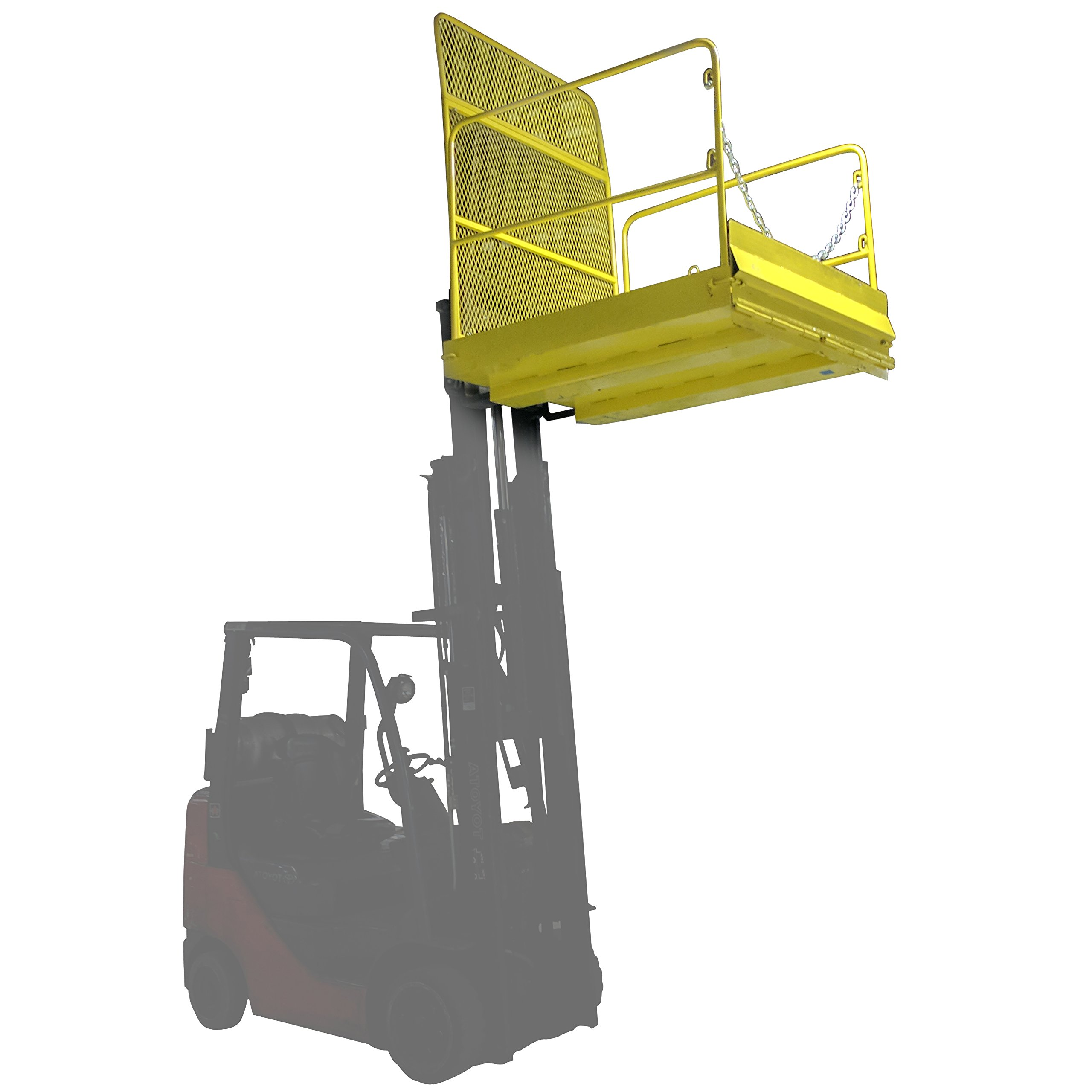 54'' x 54'' Loading Work Platform w/ Handrails - 2,000 LB Capacity by Titan Attachments (Image #6)