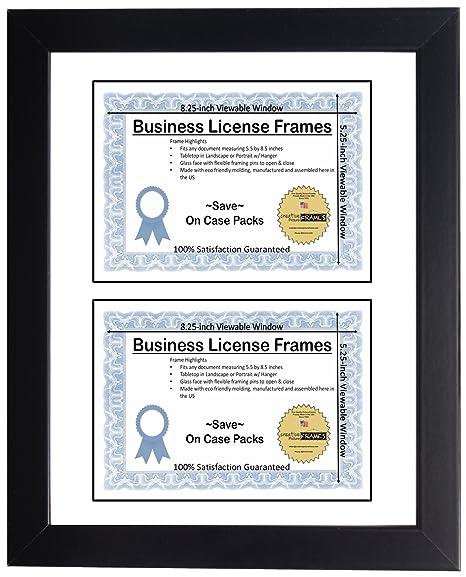 Amazon.com : CreativePF [LM5H-DL5.5x8.5bk-w] Double Business License ...