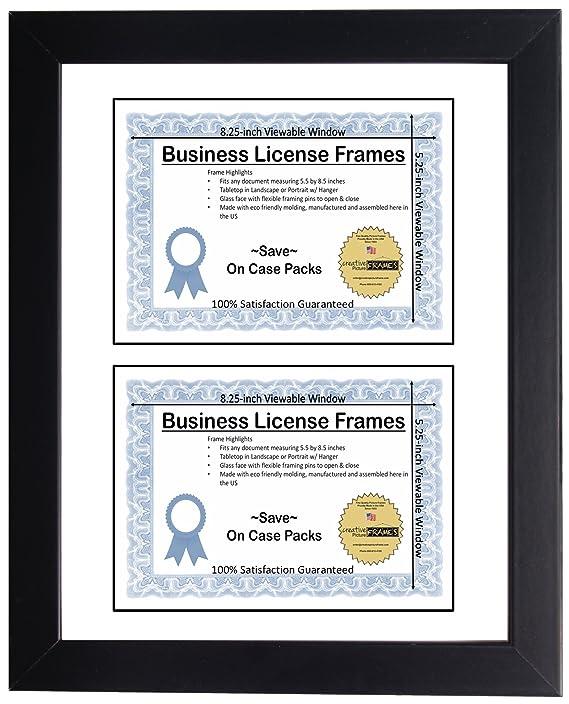Amazon.com: CreativePF [DL6x9bk-w] Double Business License Frame ...