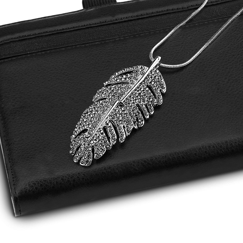 Pendant Necklace, UHIBROS Pendant Choker necklace with pendant Wing choker necklace with pendant necklace (Sliver)