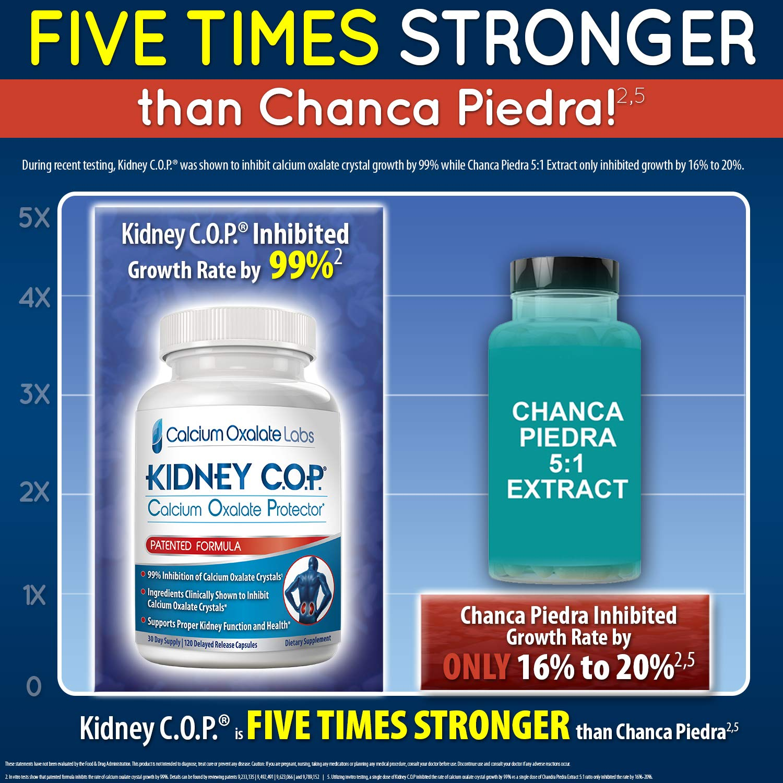 Kidney COP Calcium Oxalate Protector 120 Capsules, Patented Kidney Support  for Calcium