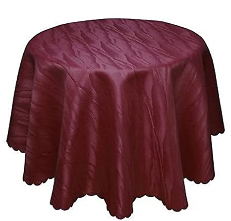 Damasco Mantel Burdeos Rojo No Necesita plancha, diseño de mármol, 120 cm, 135