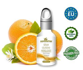 Serum facial de Colágeno Hidrolizado con Ácido Hialurónico, con vitamina C. Suero Premium antiarrugas