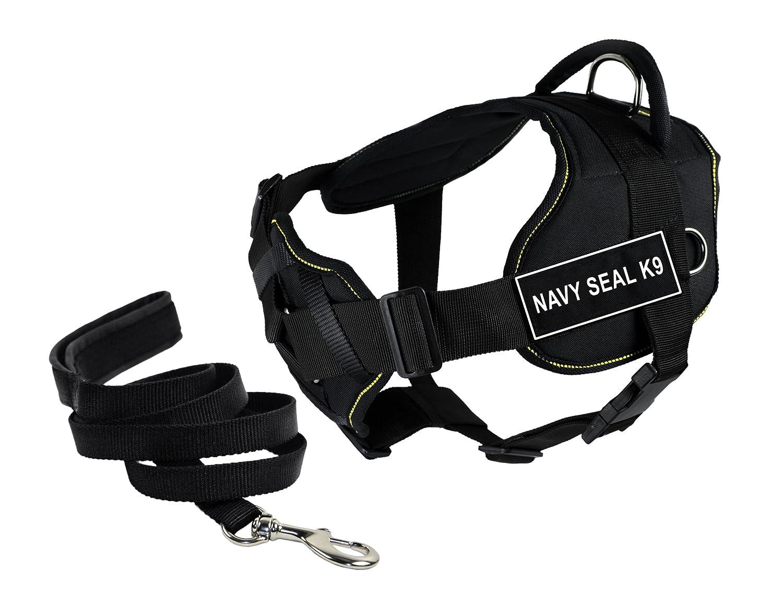 Dean & Tyler DT Fun Petto Supporto Navy Seal K9 Cablaggio, Grande, con 1,8 m Padded Puppy guinzaglio.
